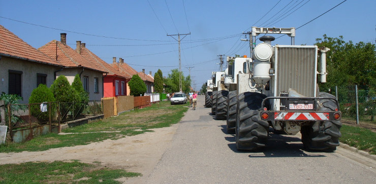 3-D seismic survey in Hungarian village